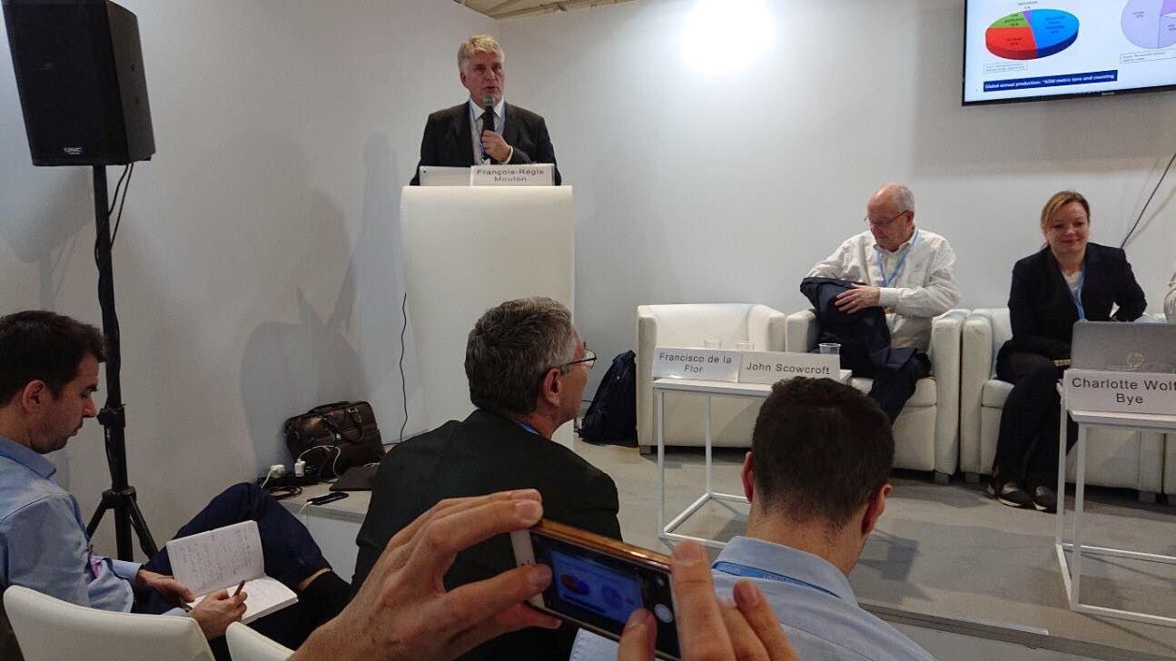 Nils Røkke holder innlegg i forbindelse med COP24 i 2018 i Katowice.