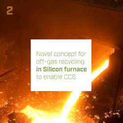 Novel concept for off-gas recycling in Silicon furnace to enable CCS