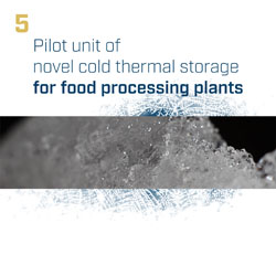 Pilot unit of novel cold thermal storage for food processing plants
