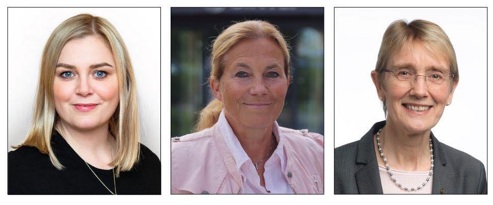 Tina Bru, Norway's Petroleum and Energy Minister, Alexandra Bech-Gjørv, President and CEO SINTEF and Anne Borg, rector, NTNU.