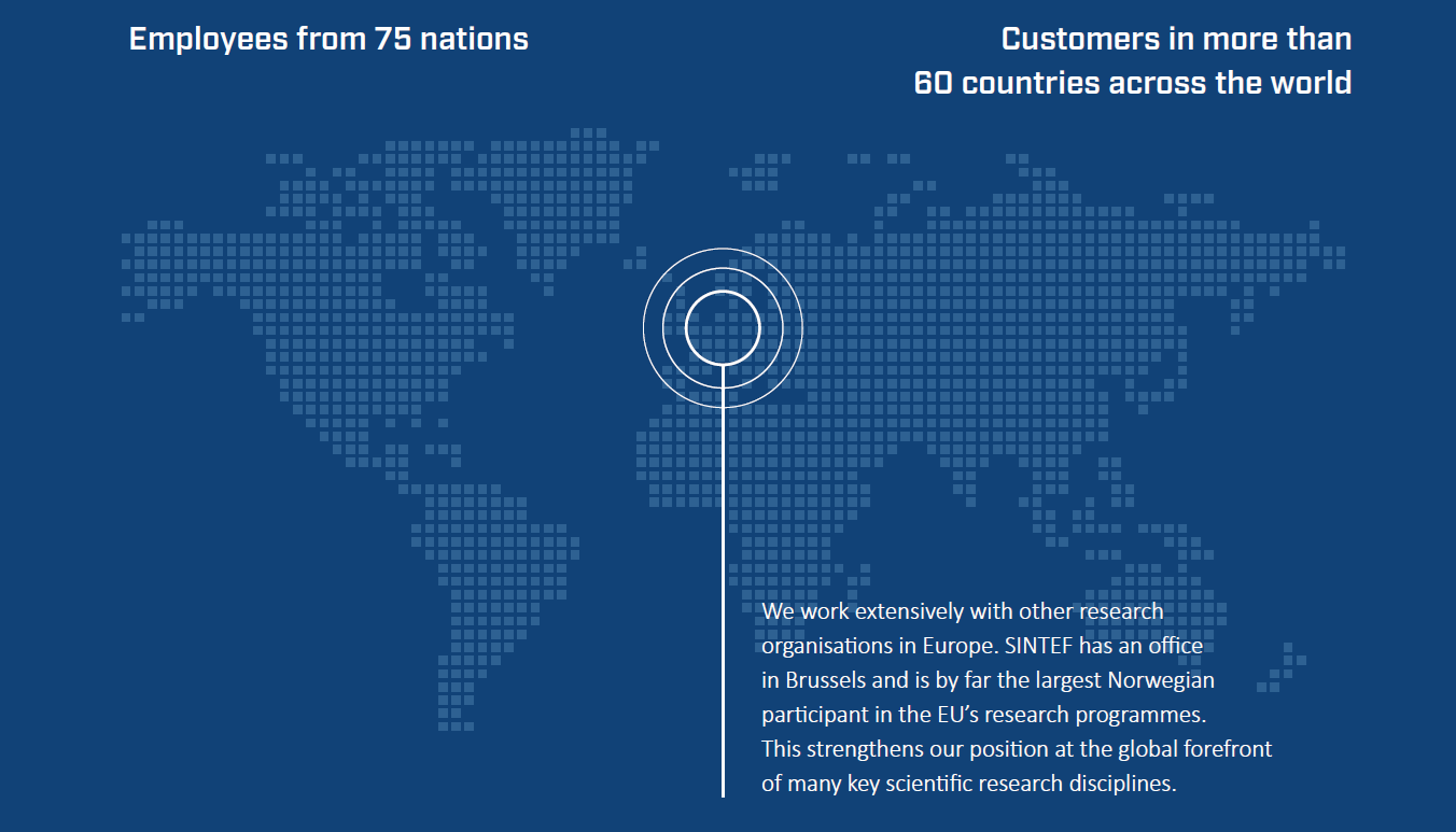 Employees from 75 nations - Customers in more than 60 countries across the world