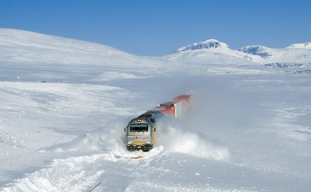 Freight train over Saltfjellet