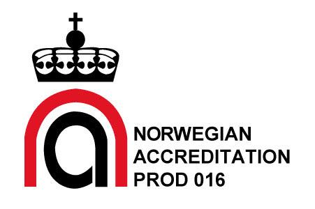 SATS Certification is a certification body accredited to NS EN ISO/IEC 17065 (2012) by Norwegian Accreditation with registration number PROD 016.