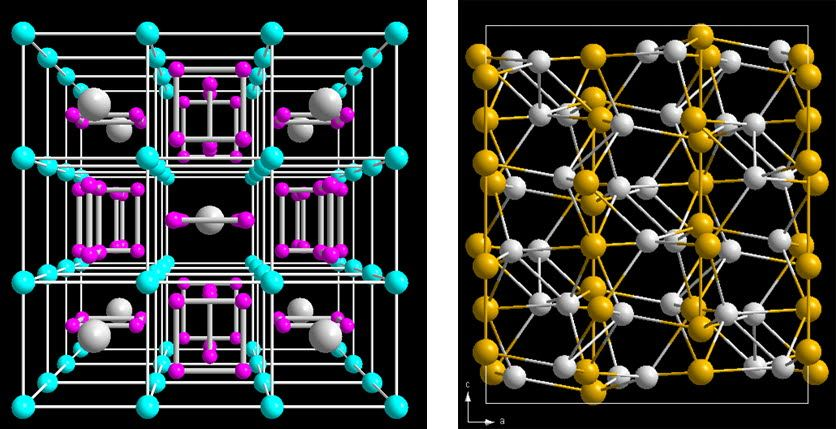 Thermoelectric materials, skutterudites and zinc antimonides