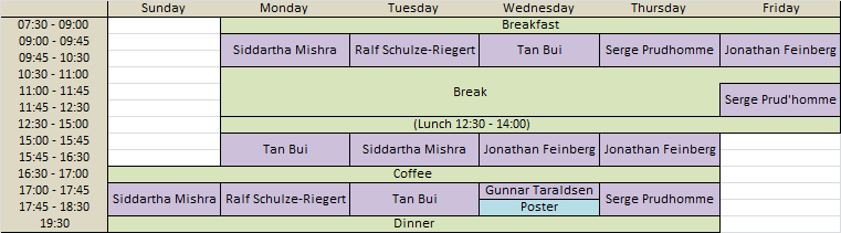 Schedule and program