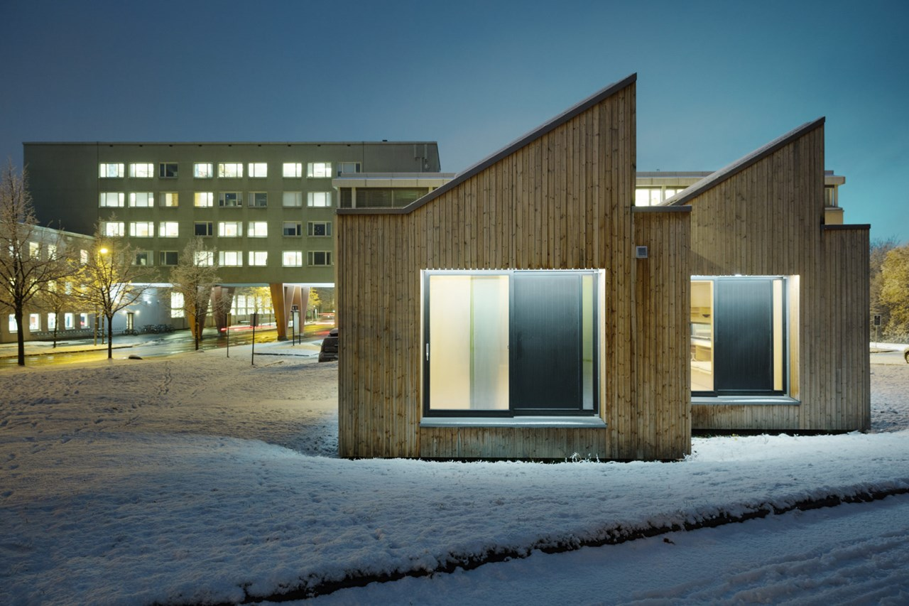 The ZEB Living Lab on the NTNU campus. Photo: Geir Mogen