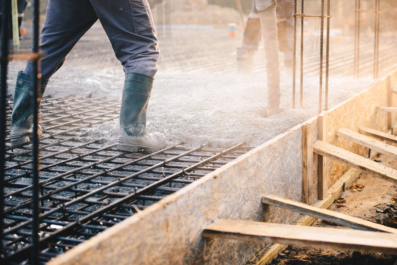 Concrete generates huge volumes of greenhouse gases.  This is why researchers are looking into producing more eco-friendly forms of this important construction material. Stock photo: Shutterstock.